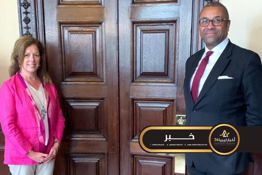 صورة وليامز والوزير البريطاني للشرق الأوسط وشمال إفريقيا يبحثان الأزمة الليبية