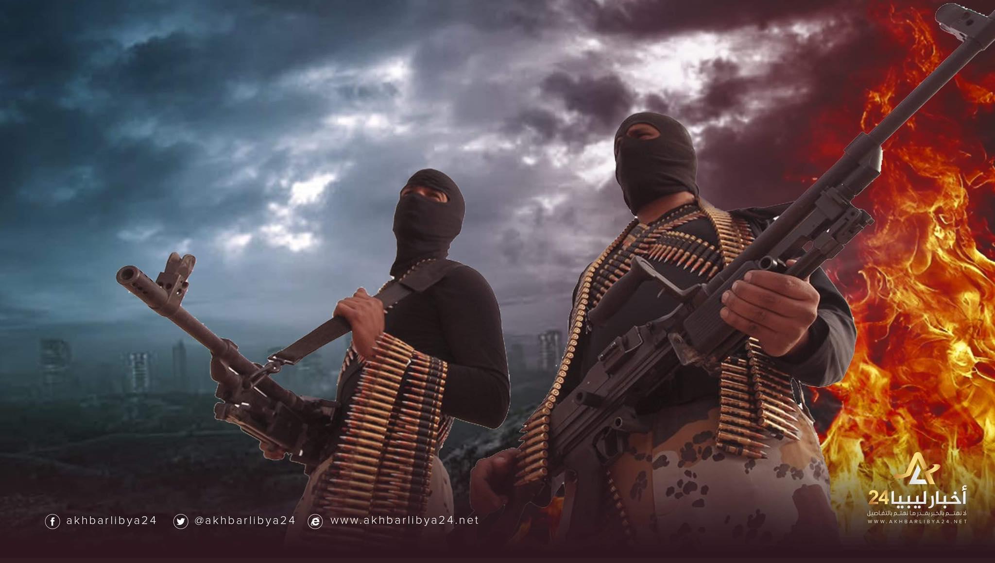 صورة مقارنة أفعال الجماعات الإرهابية في ليبيا وسوريا والعراق