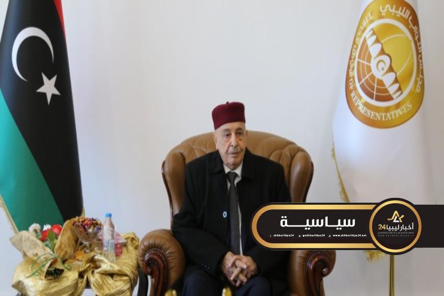 صورة عقيلة صالح في روما لبحث تطورات الأوضاع في ليبيا