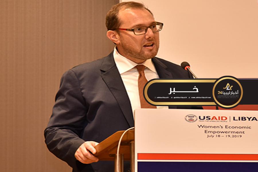 صورة السفارة الأمريكية: ملتزمون بدعم المؤسسات لتعزيز الاستقرار