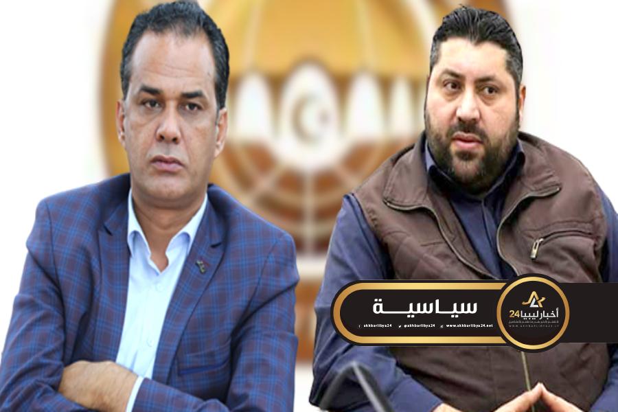 صورة العريبي ودغيم يتطلعان لموقف جزائري داعم لإرادة الشعب الليبي