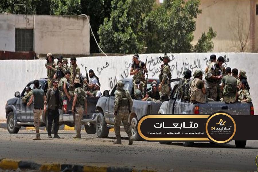 صورة ميليشيات ترهونة تفجر منازل ضباط الجيش والشرطة في المدينة