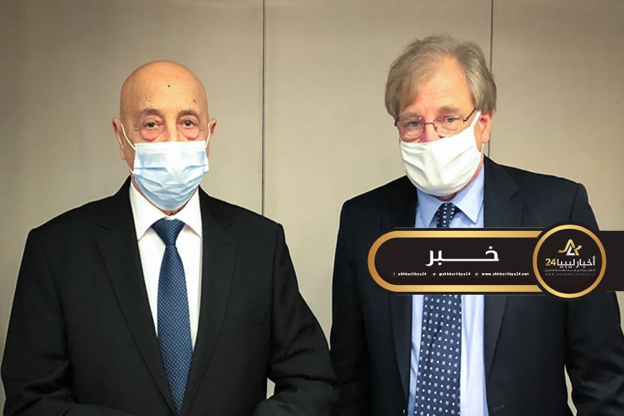 صورة دعم أمريكي لرئيس مجلس النواب لحل الأزمة في ليبيا