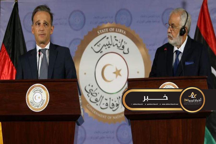 """صورة وزير خارجية ألمانية يحذّر من """"هدوء """"مخادع"""" في ليبيا أثناء زيارة مفاجئة لطرابلس"""