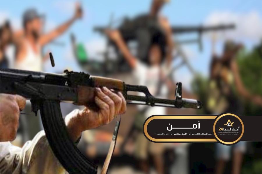 صورة من غريان..تصفية أحد أفراد داخلية الوفاق في طرابلس
