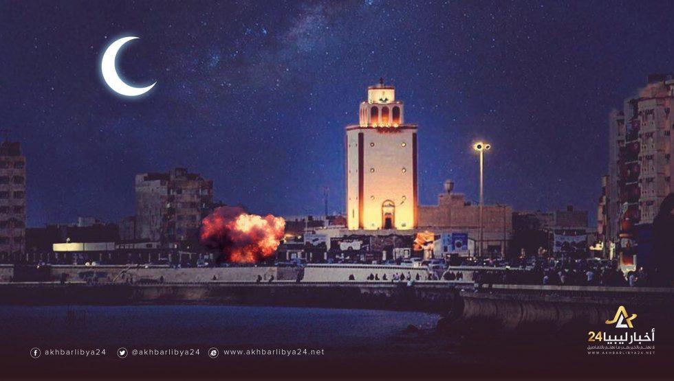 """صورة الإرهاب عدو الإنسانية..رغم حرمة """"شهر رمضان"""" تفجير سيارة مواطن في بنغازي"""