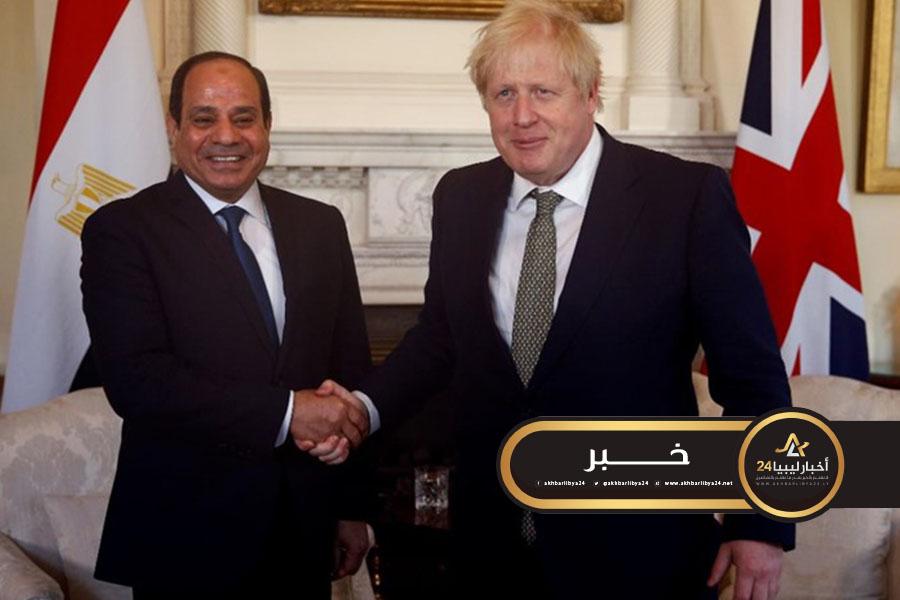 صورة جونسون يؤكد دعمه للجهود المصرية الملموسة لتسوية الأزمة الليبية