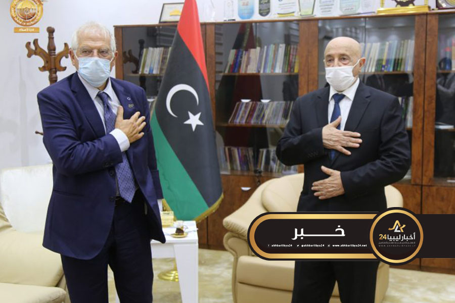 صورة عقيلة صالح يطالب بوريل بدعم تثبيت وقف إطلاق النار في ليبيا