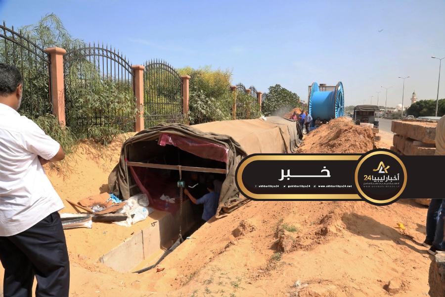 صورة الكهرباء بطرابلس: الألغام والعشوائيات سببت في تأخر صيانة الدوائر الكهربائية بجنوب طرابلس