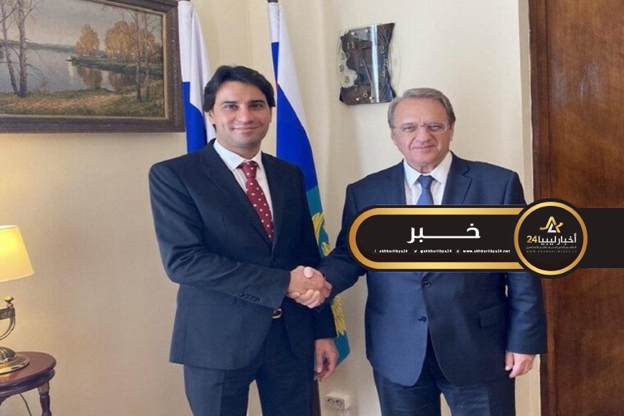صورة بوغدانوف يبحث مع مبعوث خاص لرئيس مجلس النواب الليبي الوضع في ليبيا