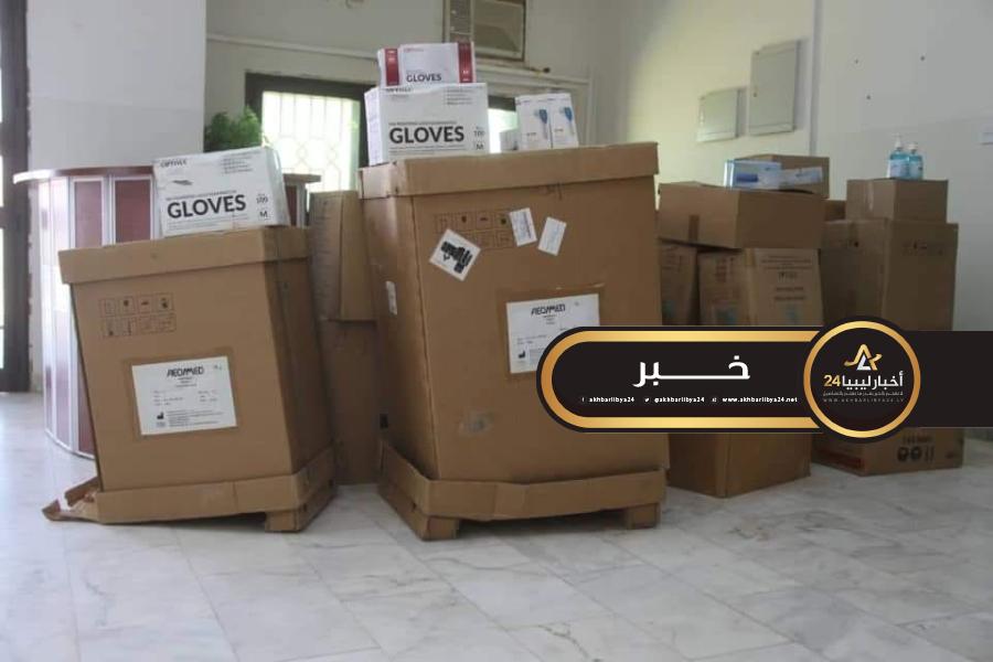 صورة الوطنية للنفط تسلم معدات طبية لجالو لمواجهة كورونا