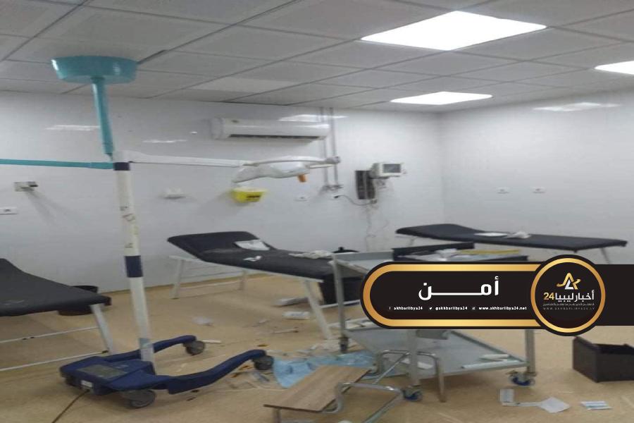 صورة اعتداء على مستشفى بني وليد العام يتسبب في إقفاله