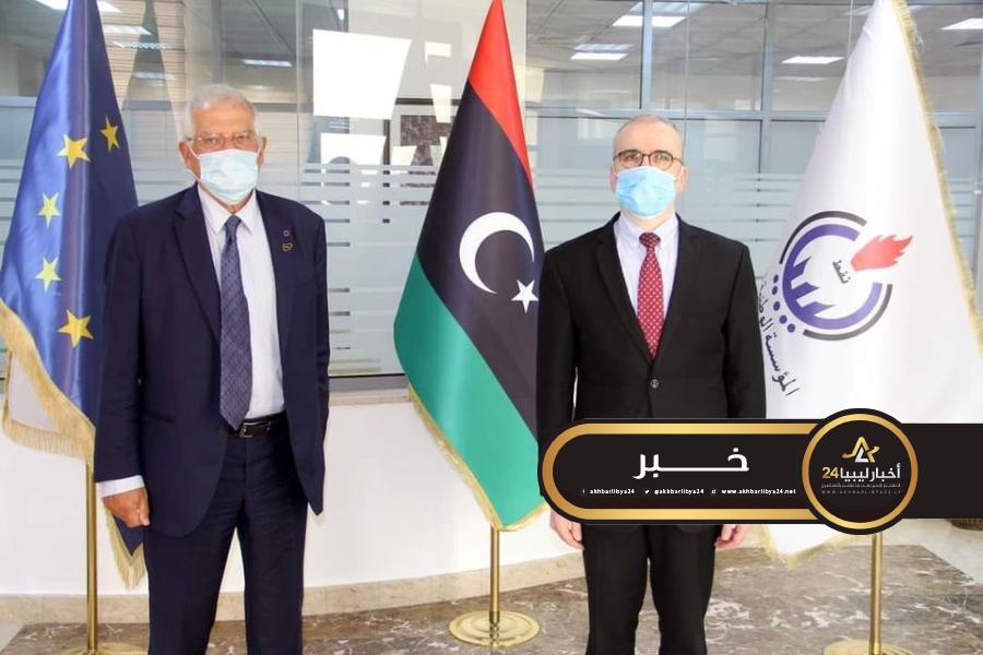 صورة مؤسسة النفط والاتحاد الأوروبي يناقشان تأثير إغلاق النفط في ليبيا