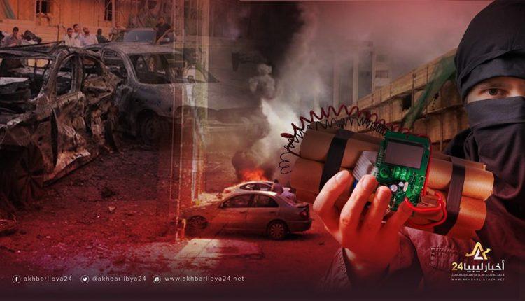 صورة دون مراعاة حرمة شهررمضان..العبواتاللاصقة السلاح الغادر للإرهاب الجبان