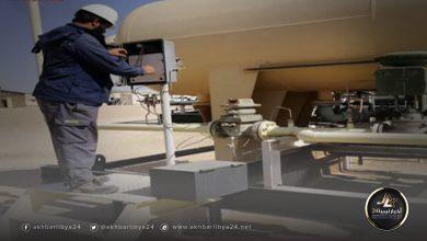 صورة بعد رفع القوة القاهرة .. الهروج تصدر أول شحنة من النفط