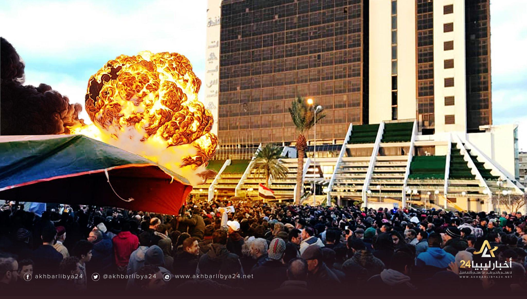 صورة الإرهاب وسلاح المفخخات الموجهة ضد الليبيين في بنغازي