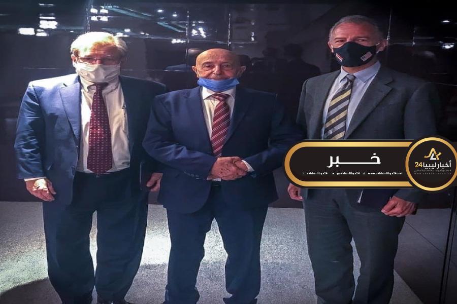 صورة عقيلة يلتقي السفير الأمريكي لدى ليبيا بالقاهرة