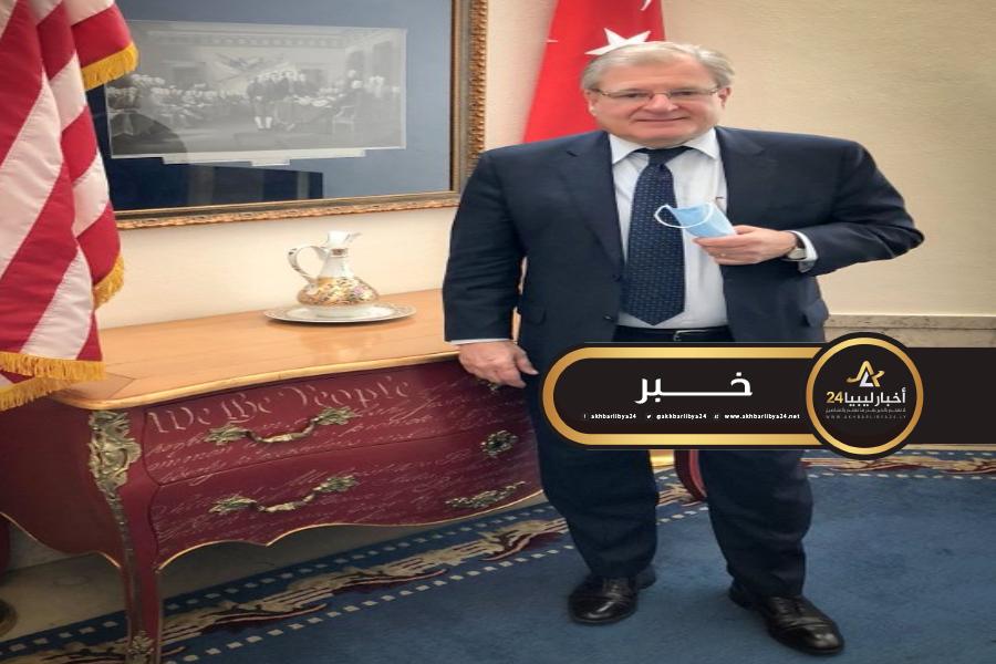 صورة نورلاند في تركيا لبحث الوضع الليبي