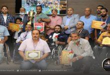 صورة بلديه بنغازي تكرم مُنتخب لعبة كُرة السلة على الكراسي المُتحركة