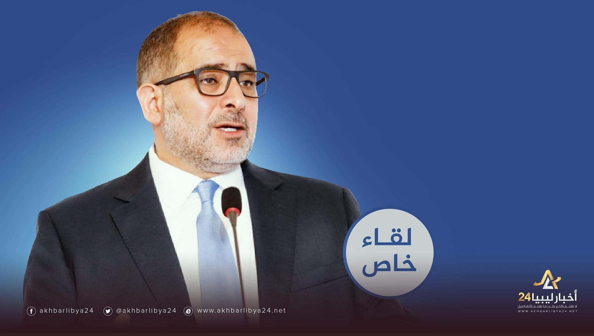 """صورة النايض لـ""""أخبار ليبيا24″: صنع الله حاول فرض القوة القاهرة على النفط والمركزي أصبح بمثابة آلة سحب ذاتي للجماعات المتطرفة"""