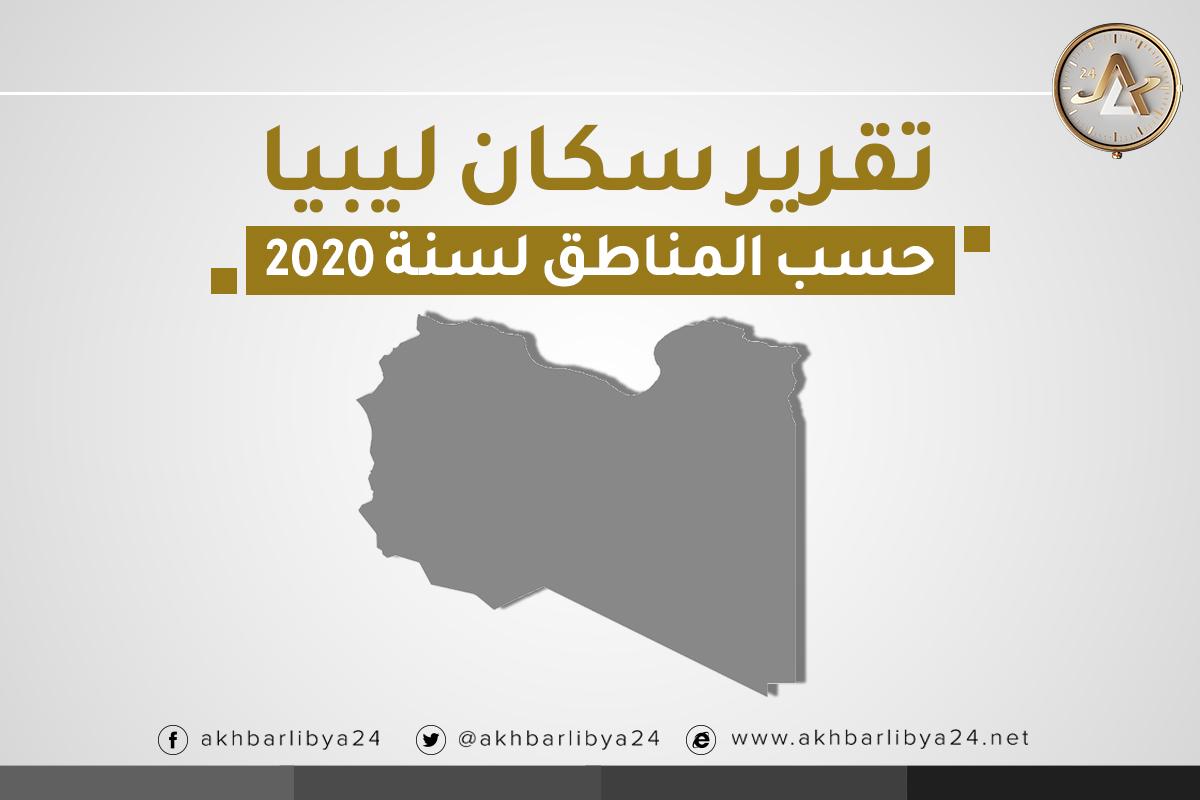 سكان ليبيا حسب المناطق لسنة 2020 Cover