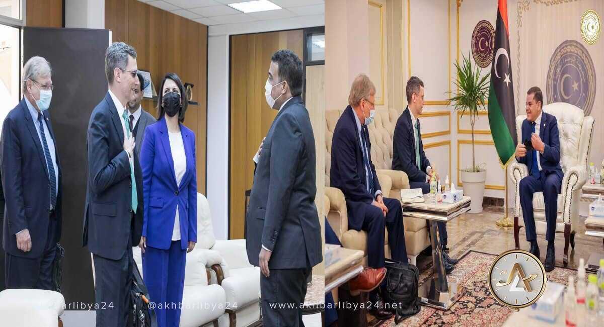 الدبيبة والمنفي يلتقيان الوزير جوي هود