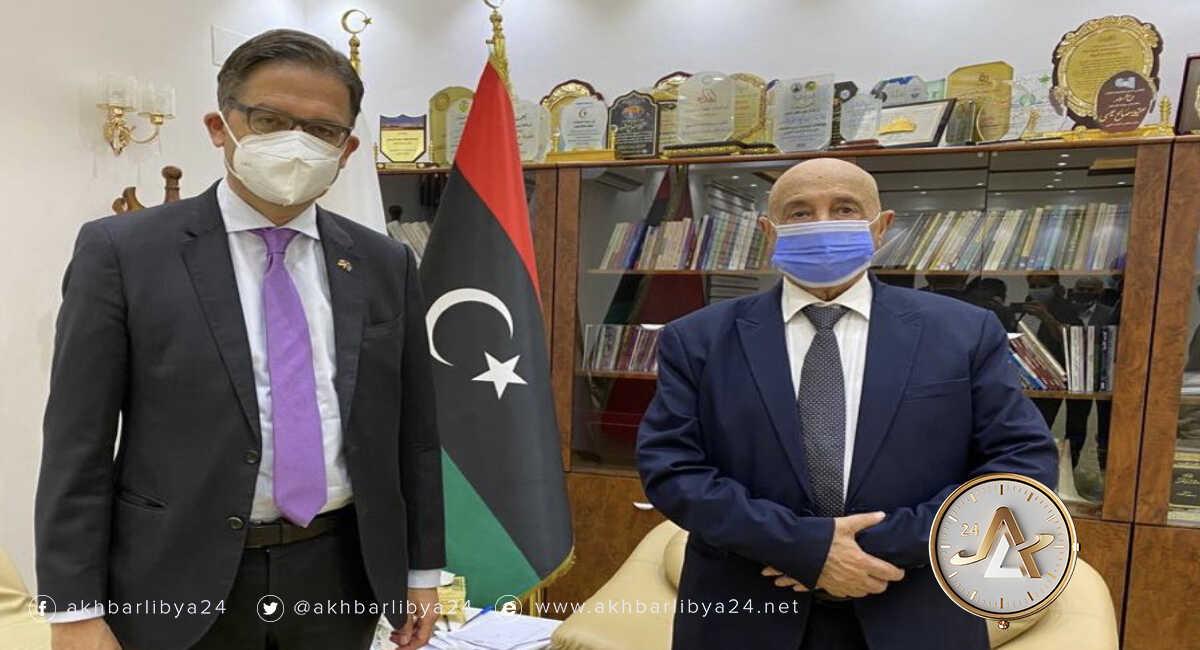 عقيلة صالح والسفير الألماني لدى ليبيا