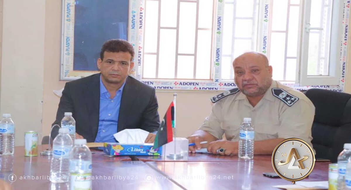 نائب رئيس حكومة الوحدة رمضان أبوجناح ومدير مديرية أمن سبها