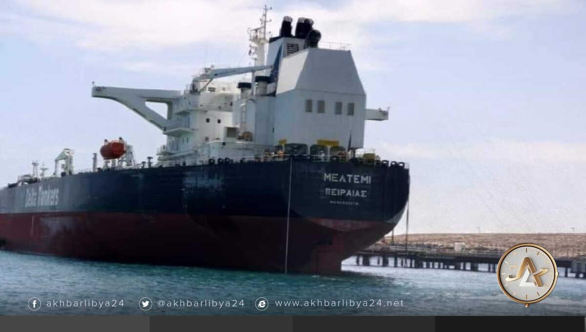 """الناقلة """"MELTEMI"""" في ميناء طبرق"""