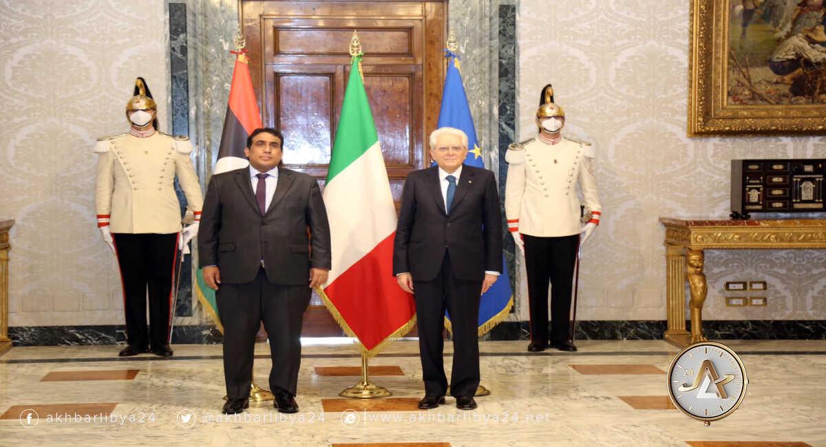 المنفي والرئيس الإيطالي