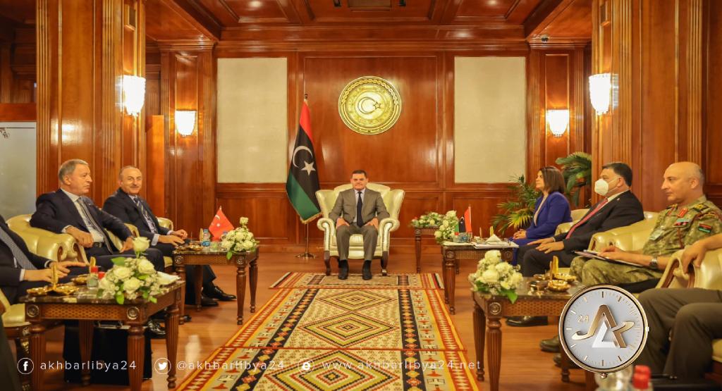 ليبيا- اجتماع رفيع المستوى بين حكومة الوحدة ووفد تركي