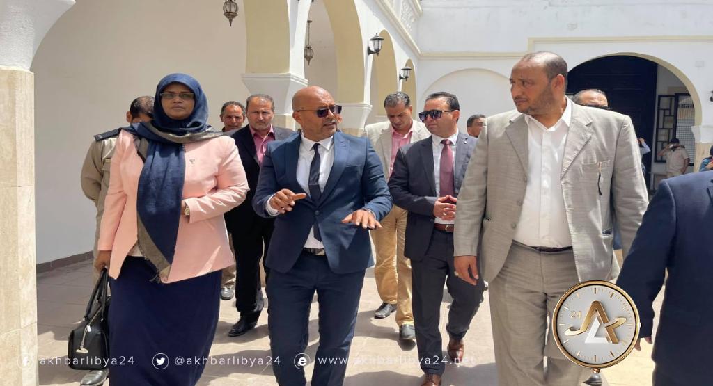 ليبيا-زيارة وزيرة الثقافة والتنمية المعرفية مبروكة توغي عثمان إلى بنغازي