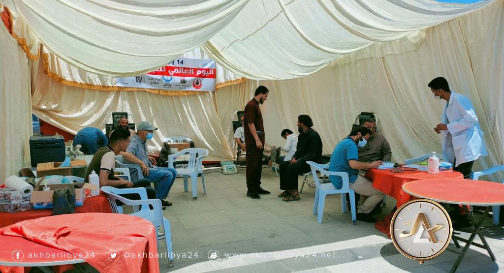 ليبيا- حملة تبرع في طبرق بمناسبة اليوم العالمي للتبرع بالدم