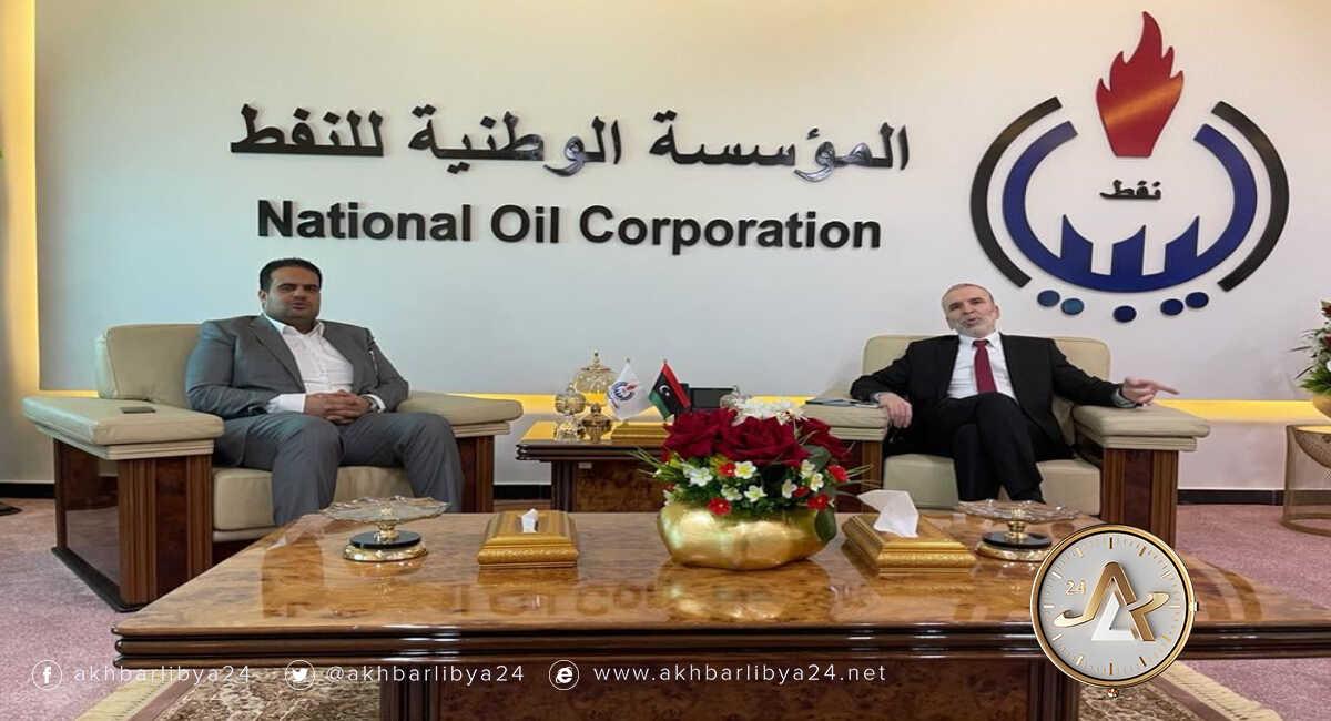 ليبيا-وكيل وزارة النفط رفعت العبار ورئيس المؤسسة الوطنية للنفط مصطفى صنع الله