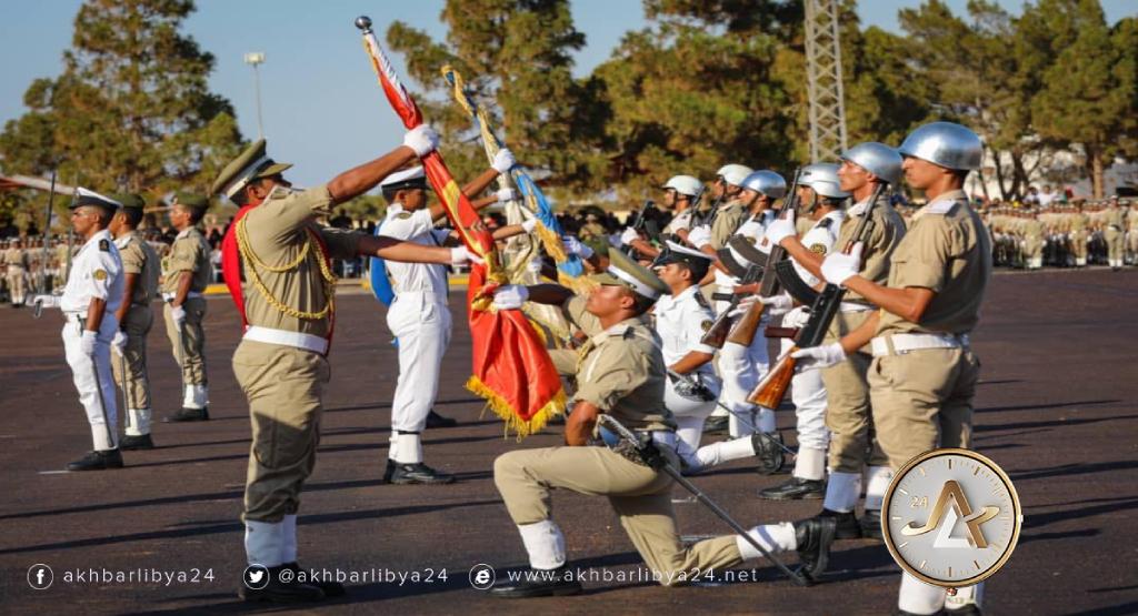 ليبيا-حفل تخريج بالكلية العسكرية توكرة