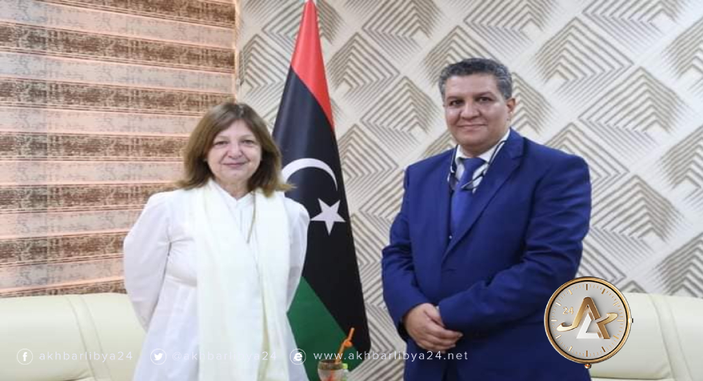 ليبيا- وزير التعليم وسفيرة فرنسا