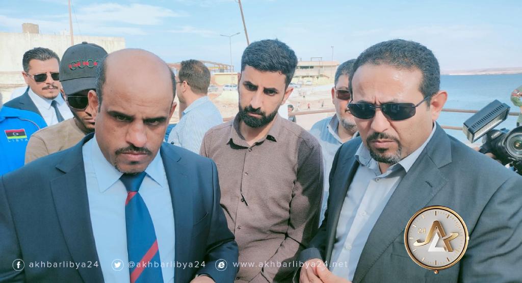 ليبيا-وزيرا الرياضة والموارد المائية يزوران طبرق