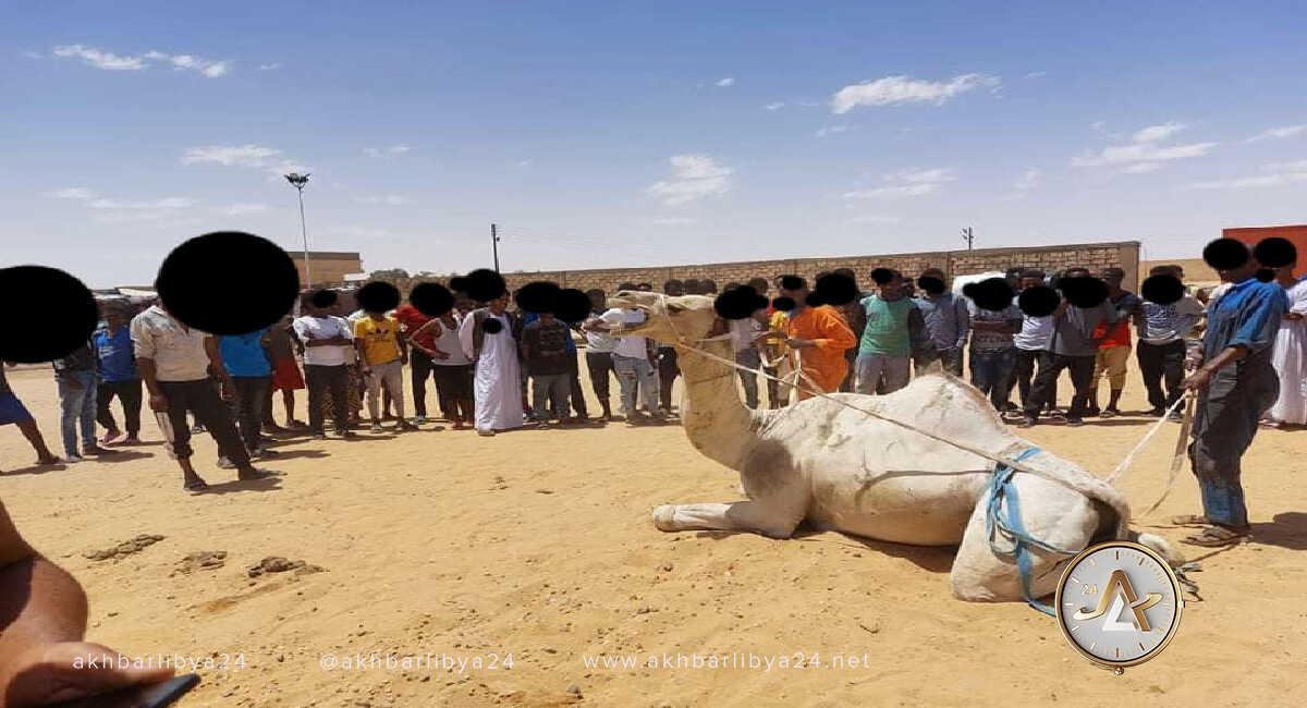 مهاجرين في مركز إيواء الكفرة