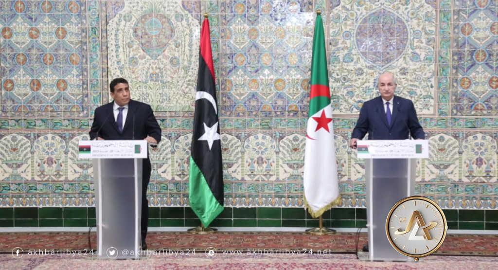 الجزائر- لقاء رئيس المجلس الرئاسي الليبي محمد المنفي مع الرئيس الجزائري عبدالمجيد تبون