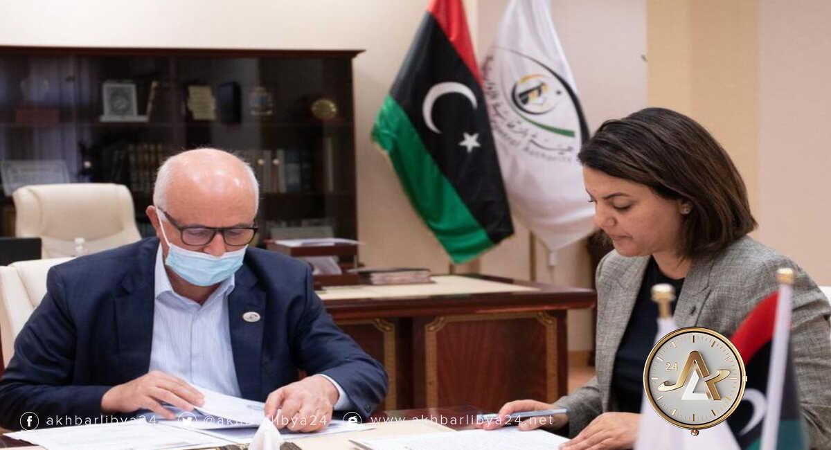 ليبيا- وزيرة الخارجية تجتمع برئيس هيئة الرقابة الإدارية