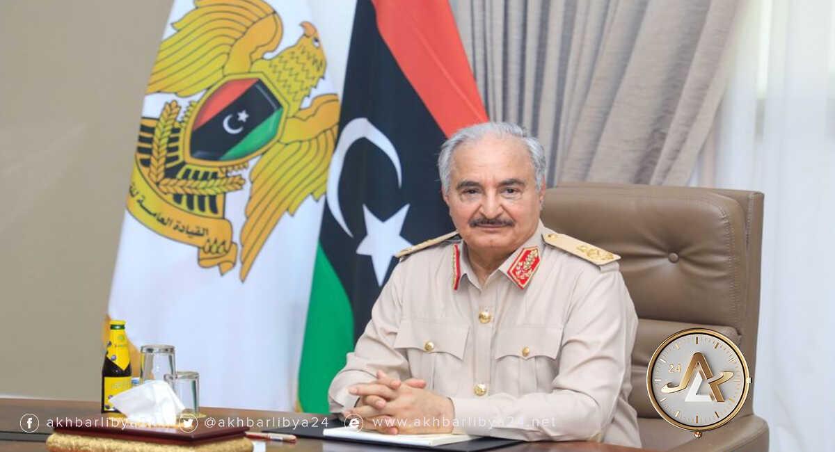 القائد العام للقوات المسلحة، المشير خليفة حفتر