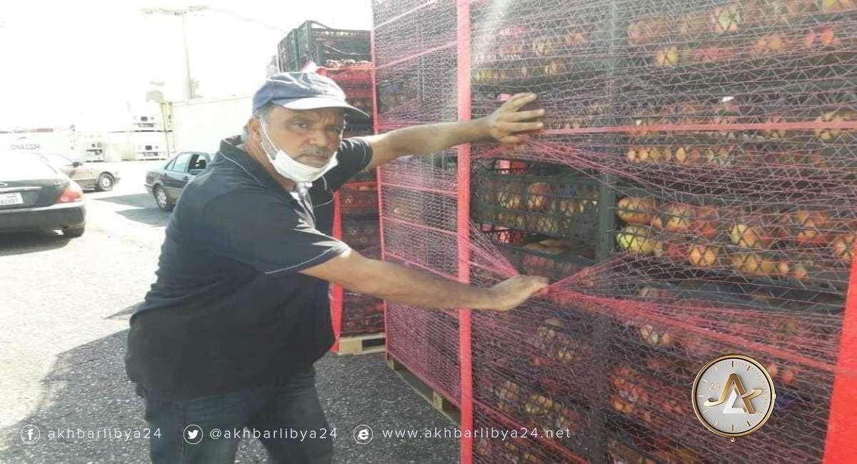 شحنة تفاح مرفوضة_طرابلس