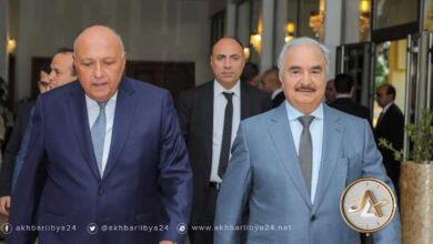 وزير خارجية مصر يزور بنغازي ويلتقي حفتر
