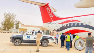 طائرة تابعة لطيران ليبيا تحمل سيولة نقدية تصل أوباري